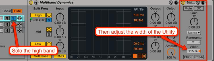adjust utility width