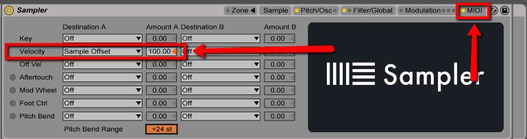Ableton sampler software instrument for live | sweetwater.